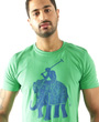 Elephant Polo graphic design t.shirt being worn by South Asian male model.