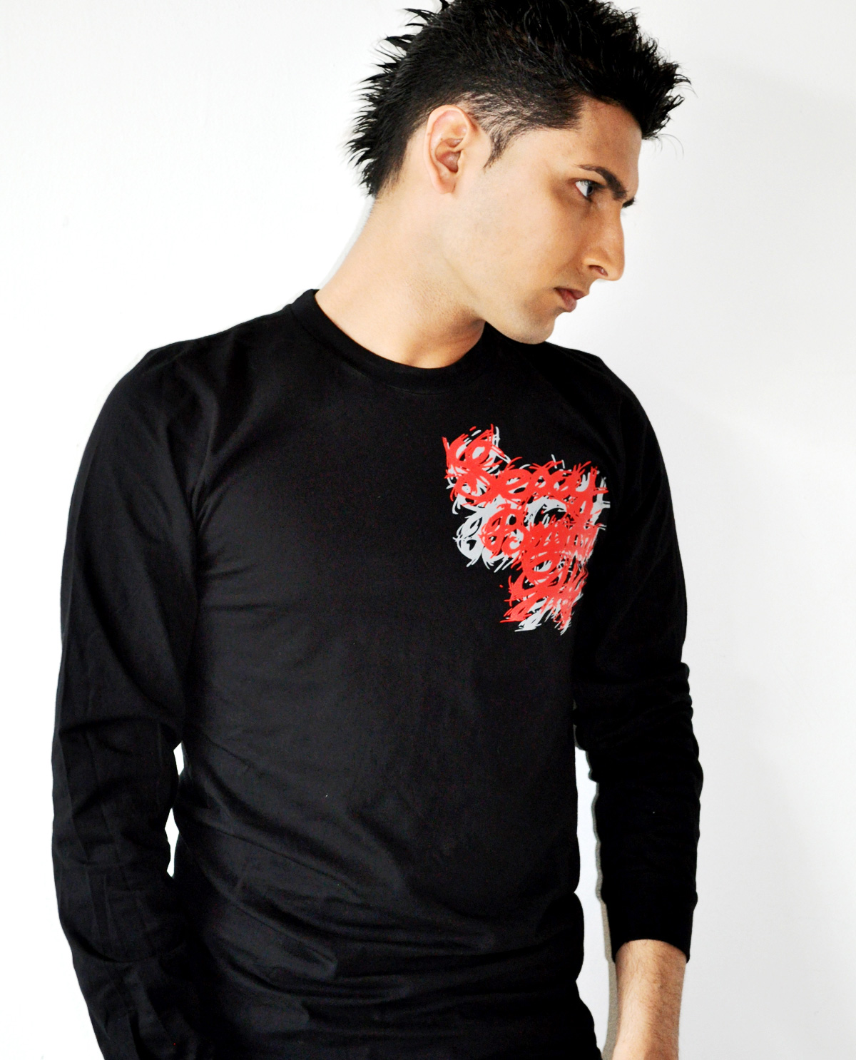 Sexy Brown Guy black long sleeved shirt. Graphic design t.shirts by Brown Man Clothing Co.